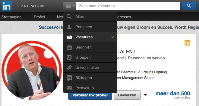 zoeken LinkedIn