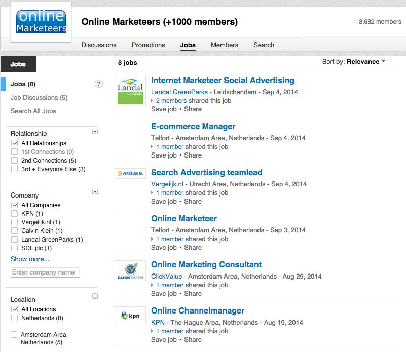 Groepen LinkedIn