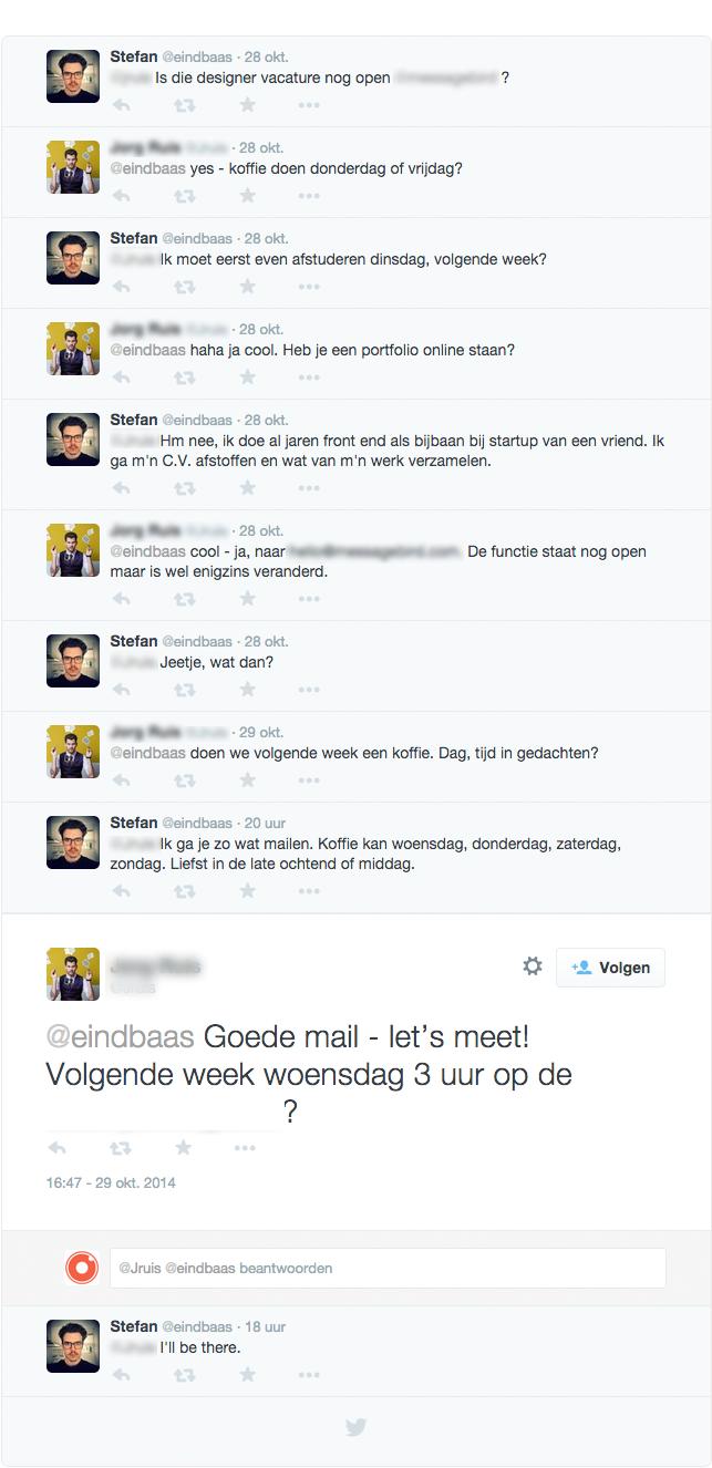 Twitter-conversatie