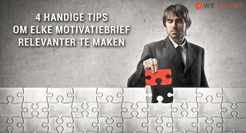 4 handige tips om elke motivatiebrief relevanter te maken