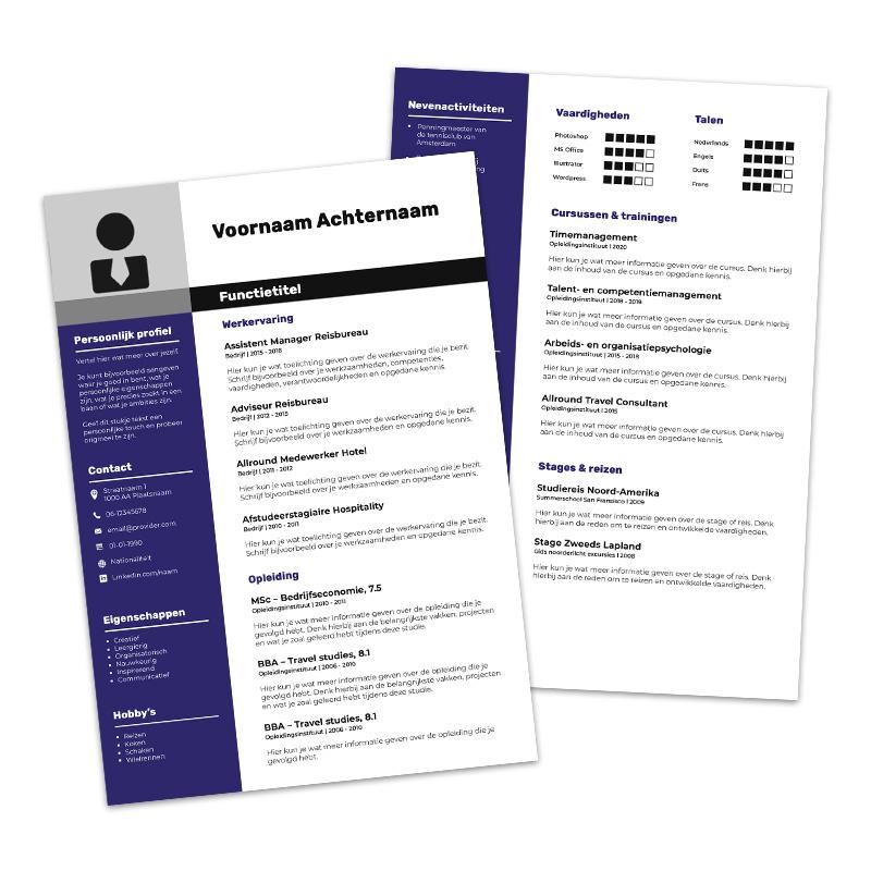 Afbeelding WETALENT product Premium cv template Londen