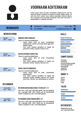 Favoriete Creatieve cv templates - makkelijk aan te passen in Word &TJ28