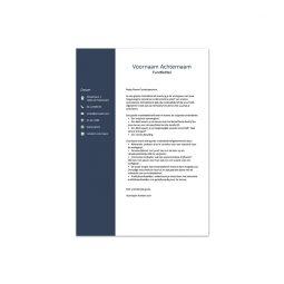 motivatiebrief template 1