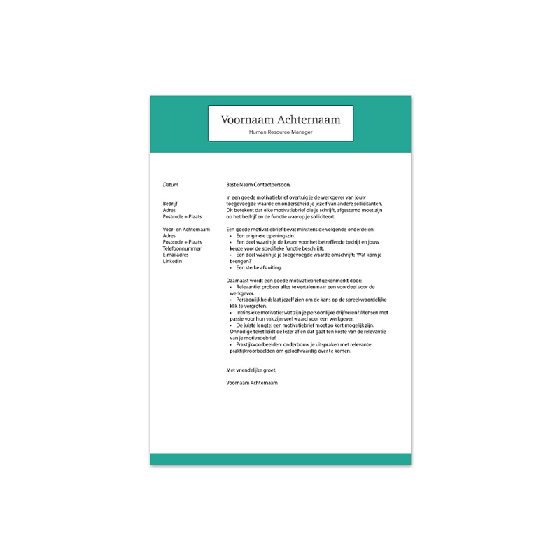 motivatiebrief template 4
