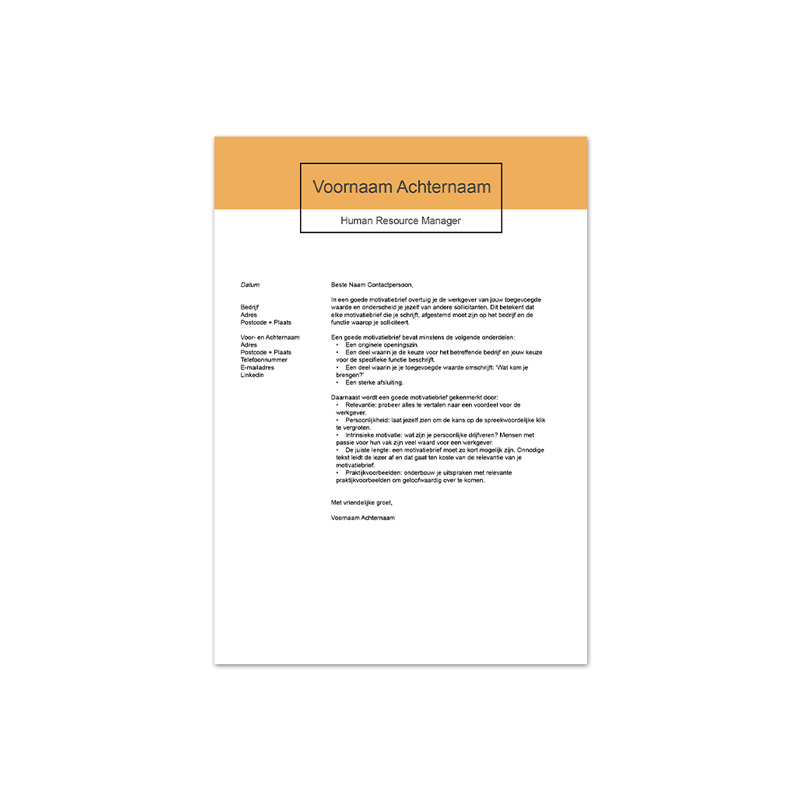motivatiebrief template 5