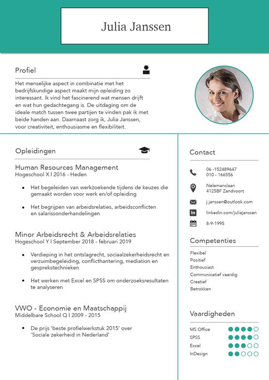 student-cv-voorbeeld-pagina-1