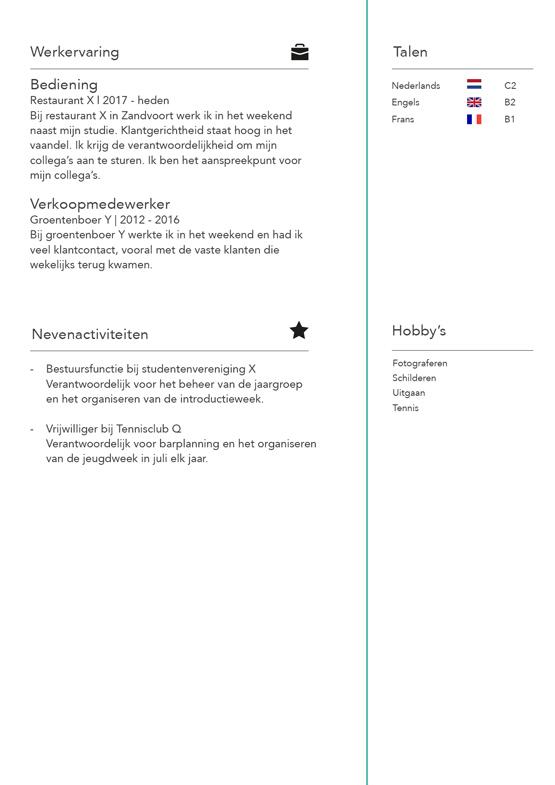 student-cv-voorbeeld-pagina-2