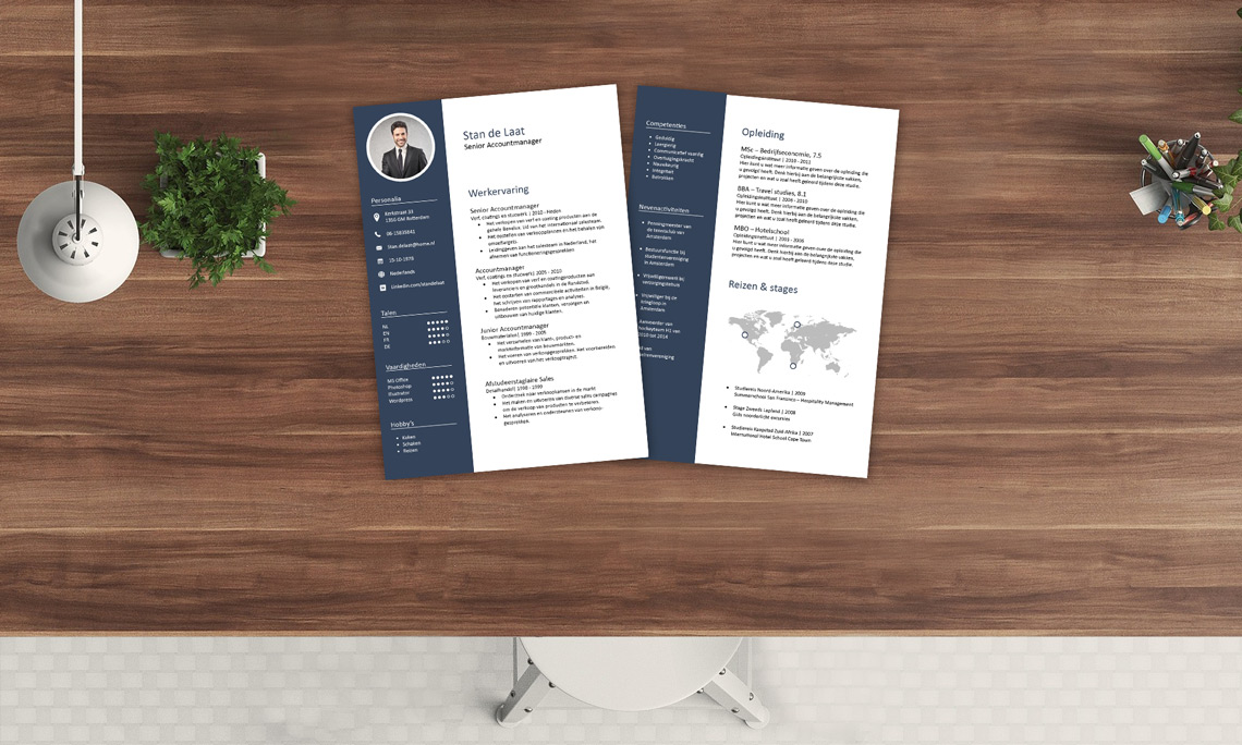Voorbeeld accountmanager cv template word en photoshop