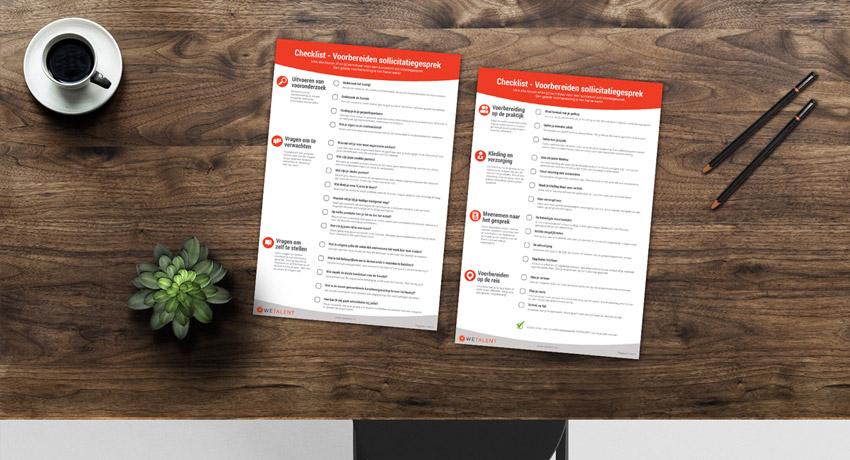 WETALENT blog afbeelding over: Dé checklist: voorbereiden op het sollicitatiegesprek!