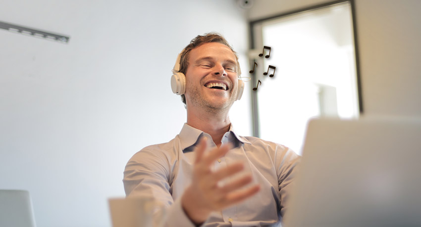 WETALENT blog afbeelding over: De invloed van muziek op je werk