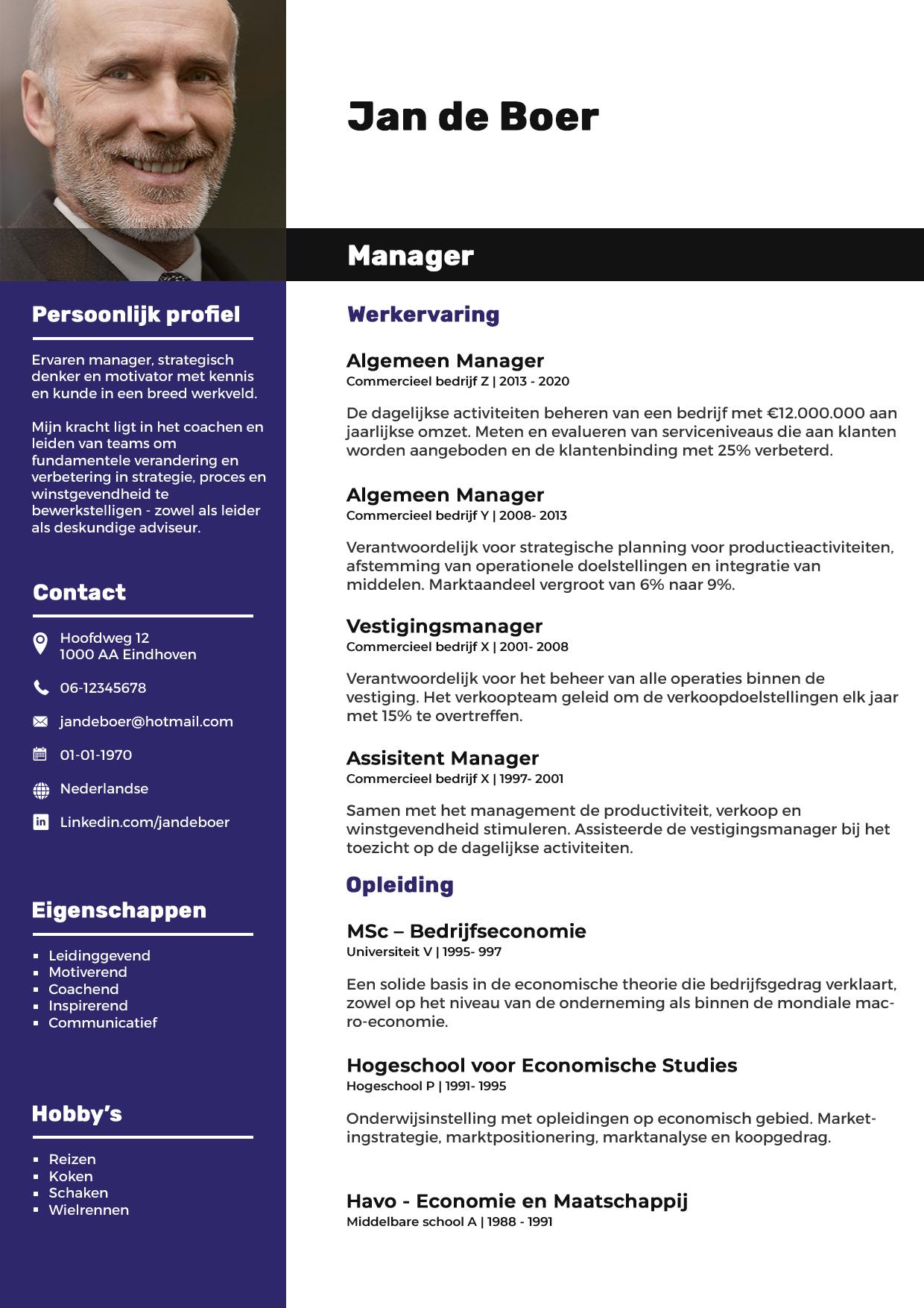 Cv-voorbeeld-manager-pagina-1